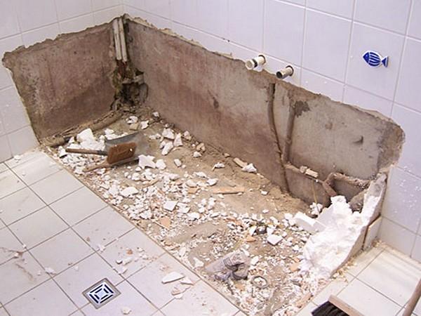 Rekonstruktion des Badezimmers mit Ihren eigenen Händen. Wie man den ...
